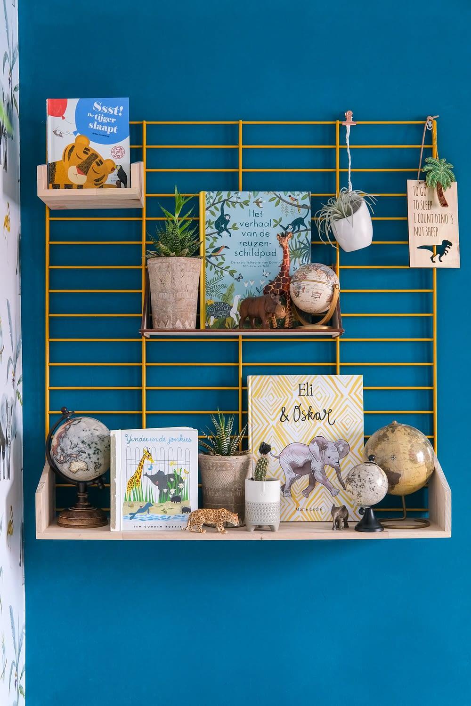 kinderboeken in jungle kinderkamer