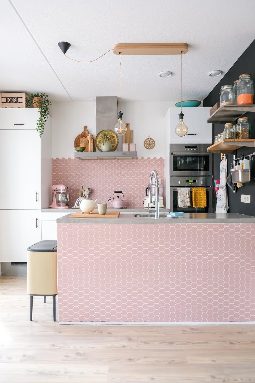 roze keuken inspiratie
