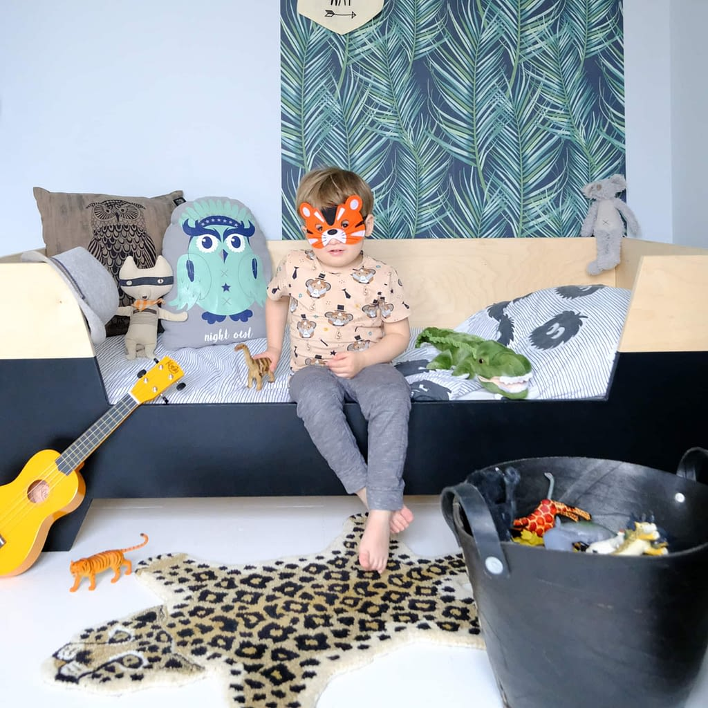 hoe maak je een jungle kinderkamer