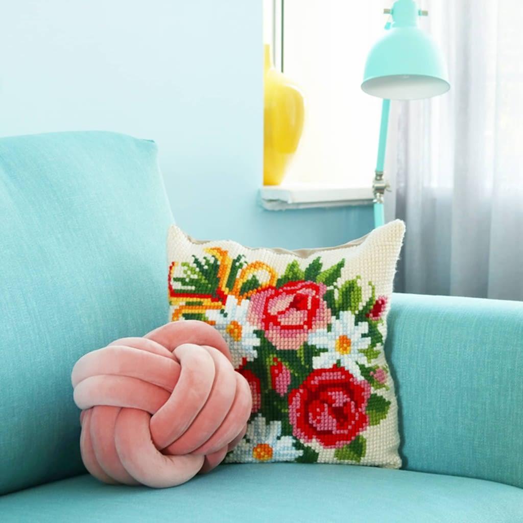 kleurrijke woonkamer van Romy