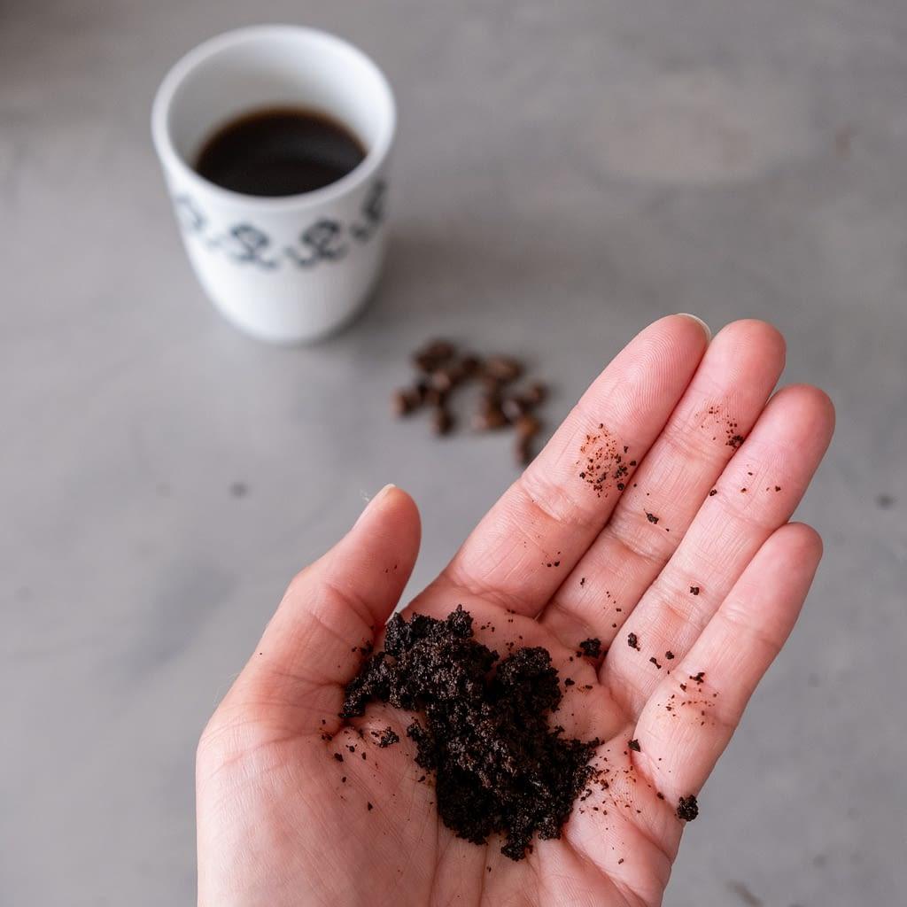 zelf scrub maken van koffie