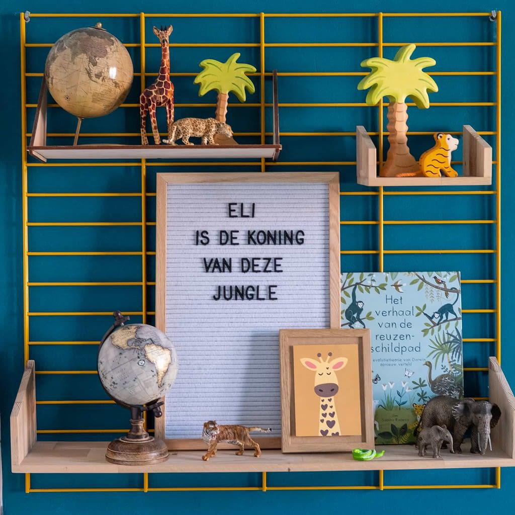 letterbord teksten voor een junglekamer
