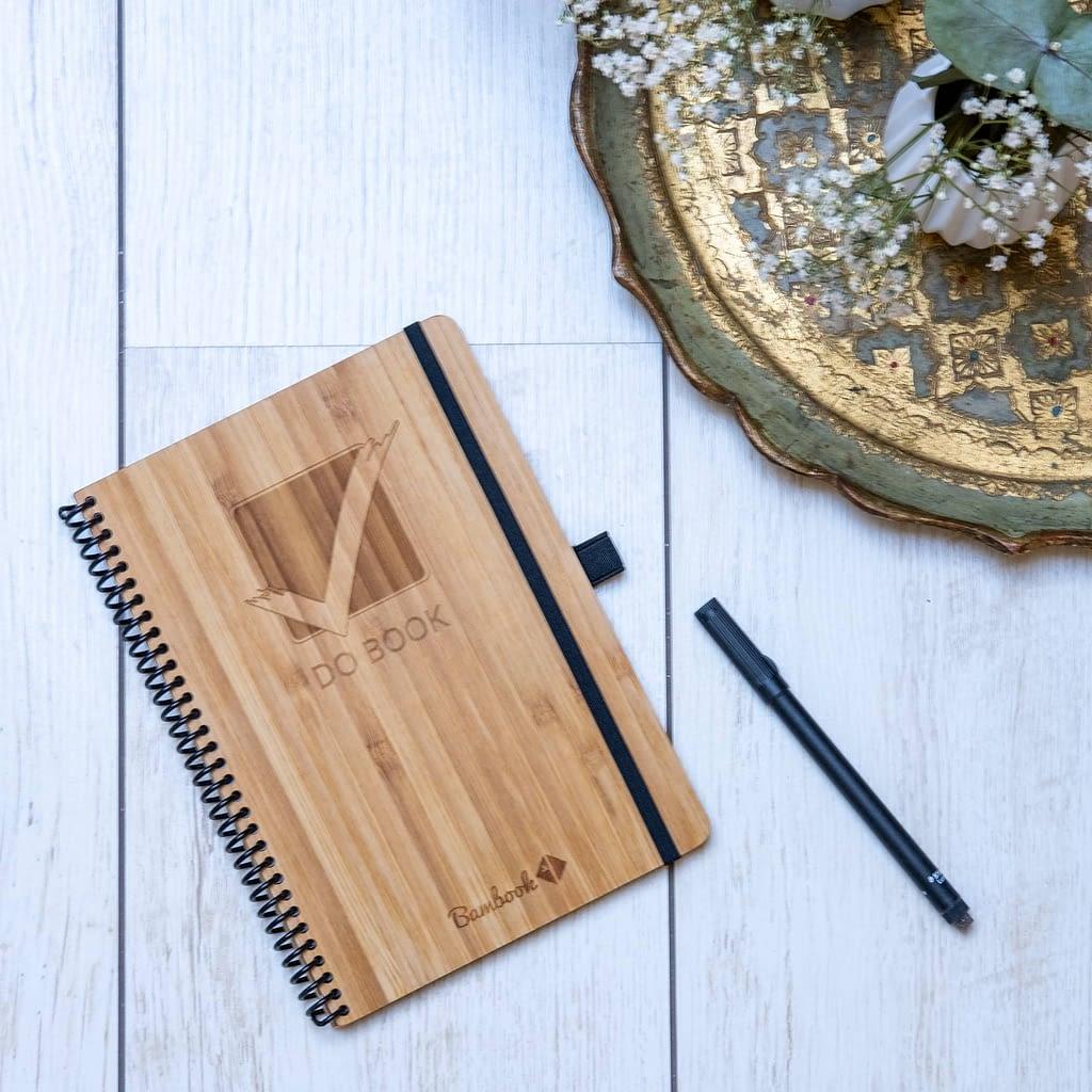 uitwisbaar notitieboek herschrijfbaar bamboe