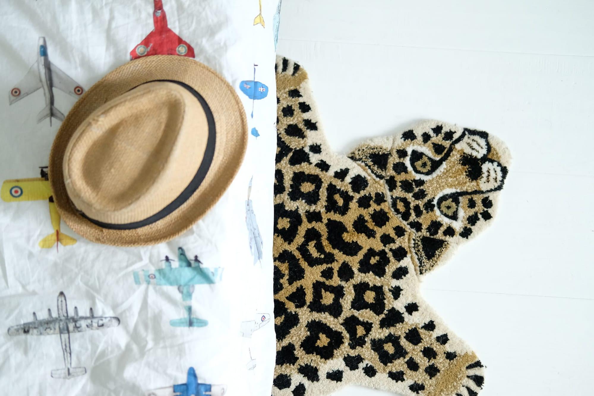 luipaard vloerkleed van doing goods