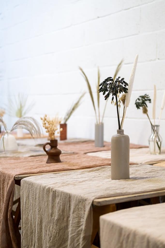 tafelstyling met aardetinten